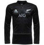 New Zealand All Blacks Long Sleeve Rugby Shirt 2016 Home