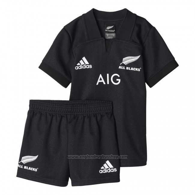 Kid's Kitss New Zealand All Blacks Rugby Shirt 2017 Home